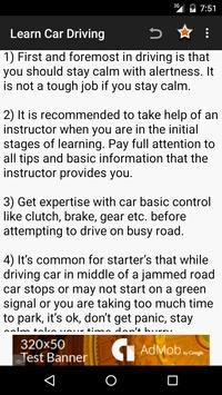 Learn Car Driving Theory apk screenshot