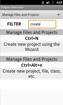 102 Eclipse Shortcut Reference apk screenshot