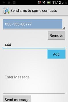 Test Send sms to all contacts apk screenshot