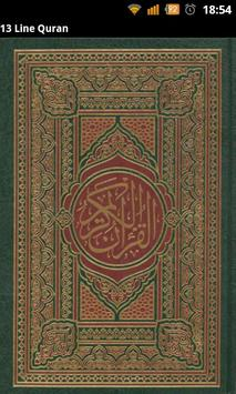 13 Line Quran poster