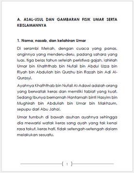 Kisah Umar bin Khattab Lengkap apk screenshot