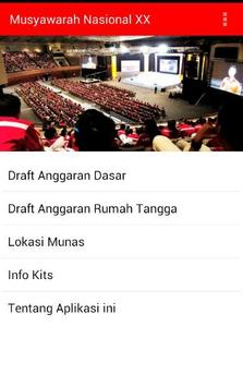 Munas XX-2014 apk screenshot