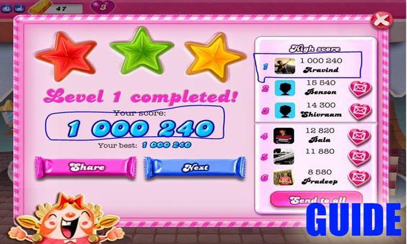 "Guide:""Candy cruSH SaGaa"" apk screenshot"