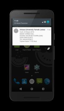 Ankara University Günlük Yemek apk screenshot