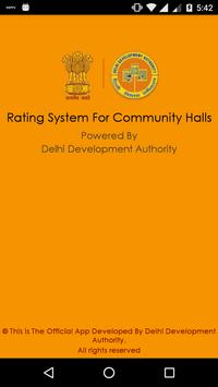 DDA - Feedback-Community Halls poster
