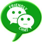 Friendly group chatting icon