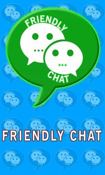 Friendly group chatting poster