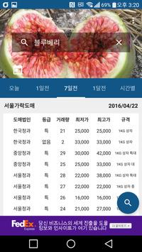 농산물 도매시장/공판장 경매가격정보 - 시간별, 일자별 apk screenshot