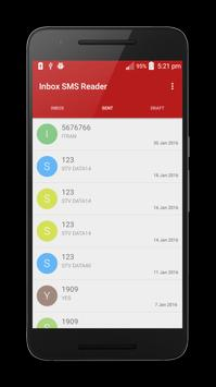 Inbox SMS Reader apk screenshot