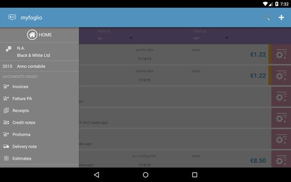 myfoglio - fatture anche PA apk screenshot