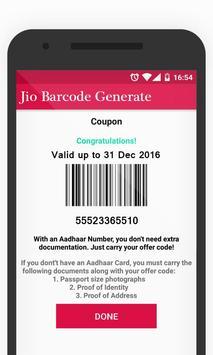 Barcode Generate For myJioo apk screenshot