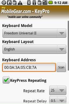 KeyPro - Android Trial apk screenshot