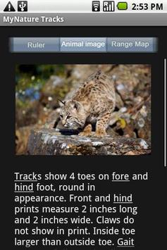 MyNature Animal Tracks Lite apk screenshot