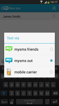 Websms - mysms out Connector apk screenshot