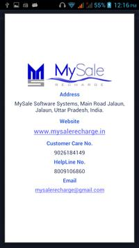 MySaleRecharge apk screenshot