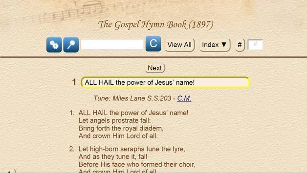The Gospel Hymn Book UK 1897 apk screenshot