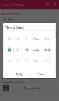 4D Message Scheduler apk screenshot