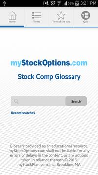 Stock Compensation Glossary poster