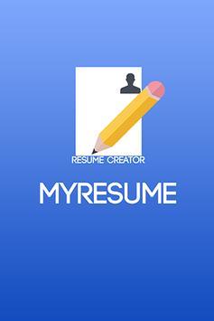 MyResume Resume Creator poster
