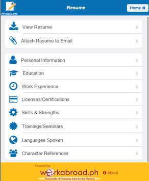 MyResume Resume Creator apk screenshot