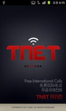 TNET free International Calls poster