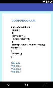C Programming - for beginners apk screenshot