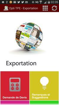 Opti TPE - Exportation apk screenshot