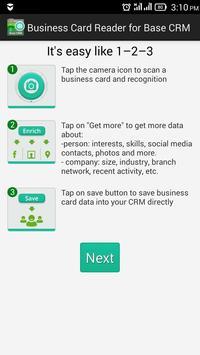 Business Card Reader Base CRM poster