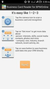 Business Card Reader BPMOnline poster