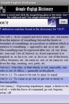 Simple Easy English Dictionary apk screenshot