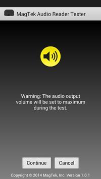 MagTek Audio Reader Tester apk screenshot