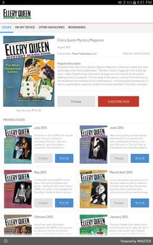 Ellery Queen Mystery Magazine poster