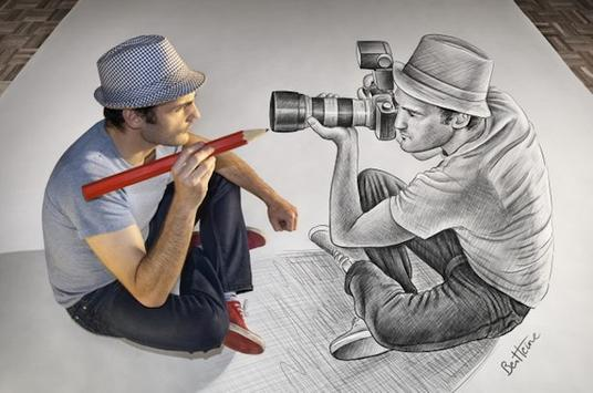 Amazing 3D Art Drawing poster