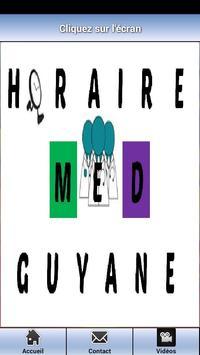 HORAIRES MÉDECINS GUYANE poster