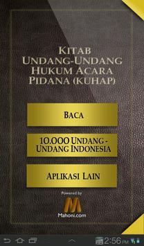 UU Hukum Acara Pidana poster