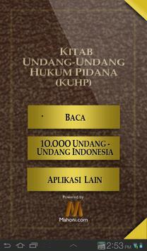 Undang-Undang Hukum Pidana poster