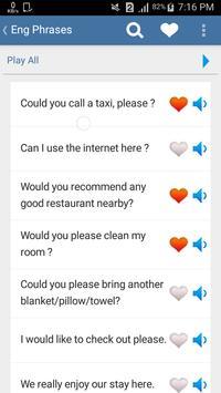 Mahavon Eng Phrases apk screenshot