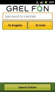 Gaelfon FREE Irish Translator poster