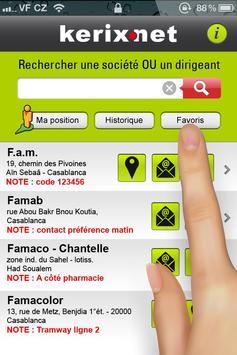 Kerix annuaire Maroc apk screenshot