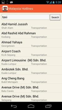 Malaysia Hotlines apk screenshot