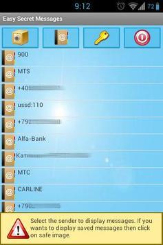 Easy secret sms apk screenshot