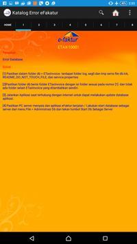 Kode Error Efaktur dan Solusi apk screenshot