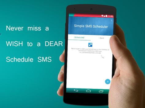 Simple SMS Scheduler FREE poster