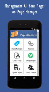 Pages Manager apk screenshot