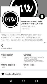 Manga World apk screenshot