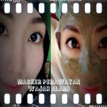 Masker Perawatan Wajah Alami poster