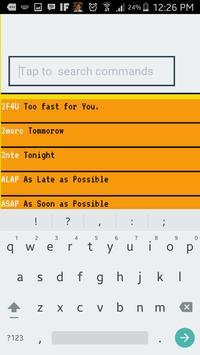 Texting Abbreviation Reference apk screenshot