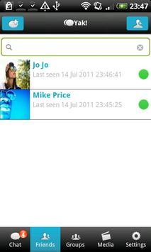 Yak Messenger apk screenshot
