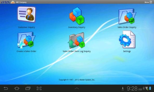 OMS for Android apk screenshot