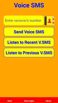 Voice SMS poster